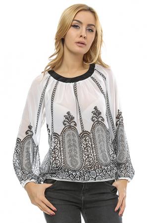 Bluza bufanta cu print digital B94
