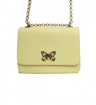 Geanta din piele Ivoir Butterfly