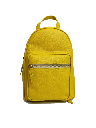 Geanta mini backpack din piele Yellow
