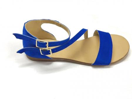 Sandale dama din piele Electric Blue Anna