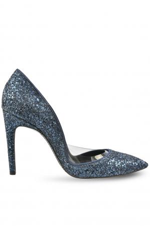 Pantofi Mihai Albu Cobalt Glitter Pumps