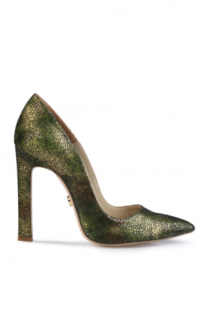 Pantofi Mihai Albu din piele texturata Green