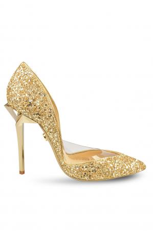 Pantofi Mihai Albu Gold Glitter Stealth