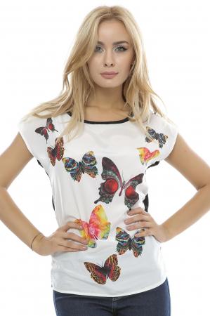 Bluza dama cu model imprimat fluturi B89