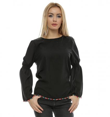 Bluza neagra cu maneci clopot B95