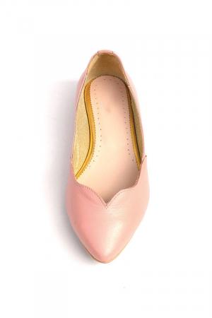 Balerini dama din piele Pale Pink