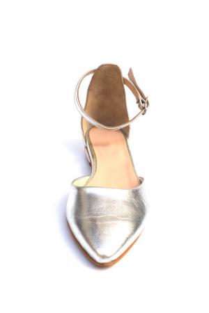 Balerini dama din piele Silver, 41