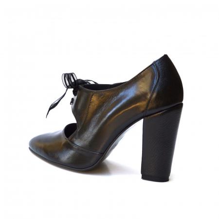 Pantofi cu toc gros si siret din organza