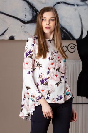 Bluza casual din vascoza imprimata cu model floral Amber
