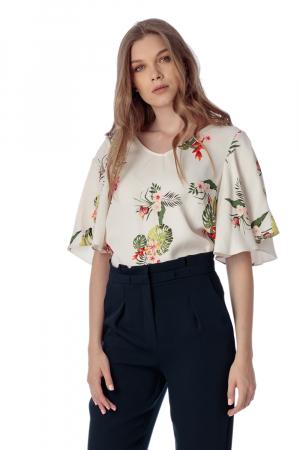 Bluza din vascoza cu spatele gol Resa