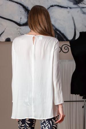 Bluza casual alba vaporoasa Amber