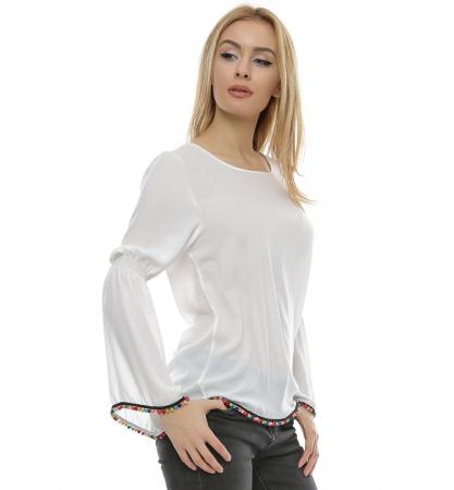 Bluza alba cu maneci clopot B96