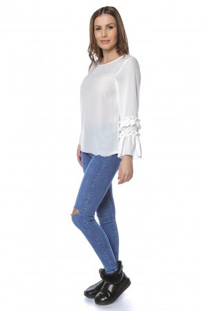 Bluza dama din vascoza White B123