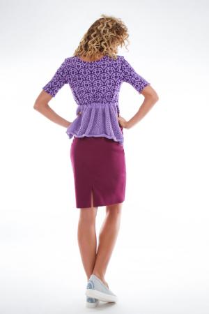 Bluza tricotata asimetrica lila