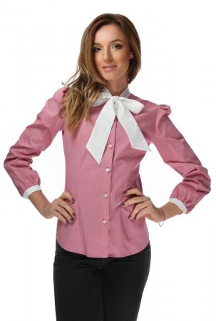 Camasa dama office roz cu funda alba