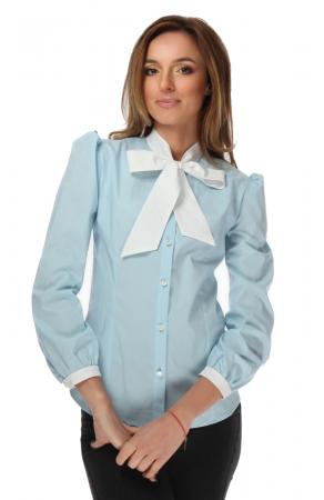 Camasa dama office bleu cu funda alba