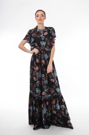 Rochie lunga boho chic cu imprimeu floral