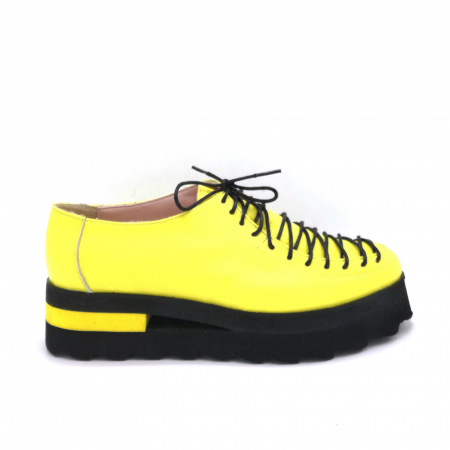 Pantofi dama tip Oxford Yellow Laces