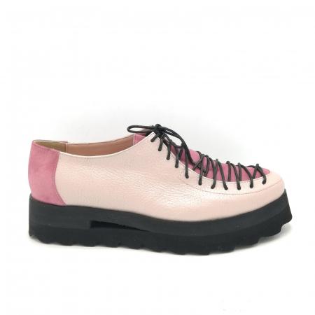 Pantofi dama tip Oxford Pink Sidef Laces