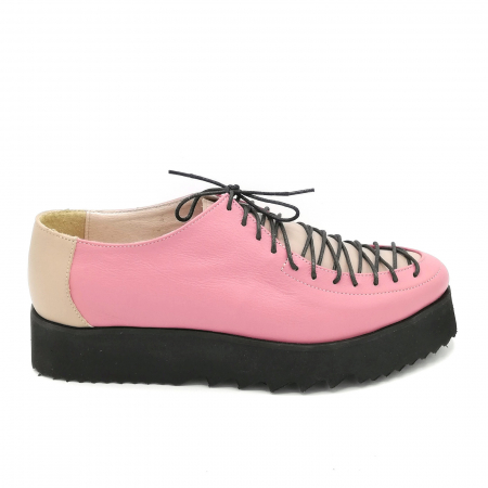 Pantofi dama tip Oxford Pink Laces