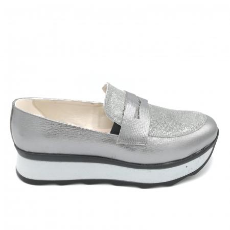 Pantofi dama sport argintii