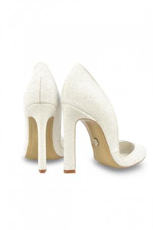 Pantofi de mireasa Mihai Albu White Glitter Pumps 2