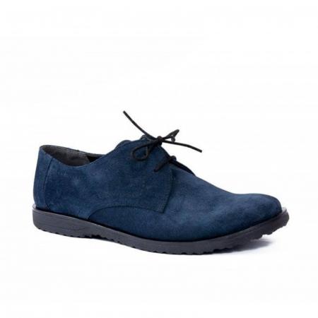 Pantofi din piele intoarsa Pax bleumarin