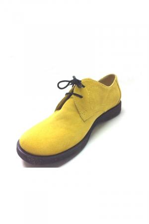 Pantofi din piele intoarsa Pax galbeni