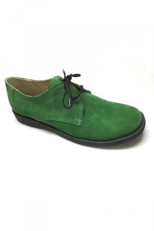 Pantofi din piele intoarsa Pax Verde