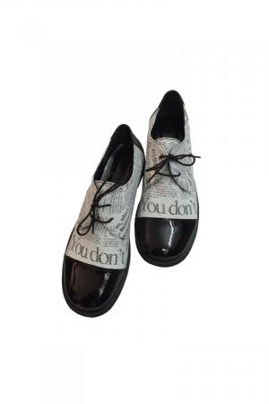 Pantofi din piele Oxford Pam Paper