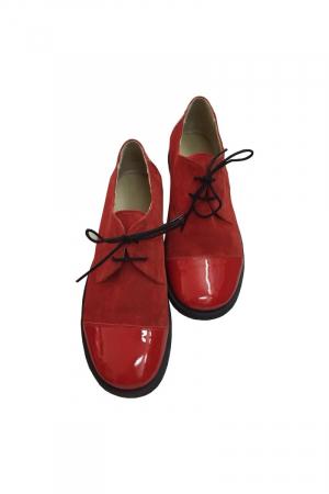 Pantofi din piele Oxford Pam Red