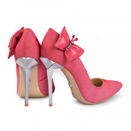 Pantofi Mihai Albu din piele Red Papillon Stealth