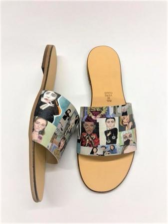 Papuci de dama din piele Elisa Photo Collage