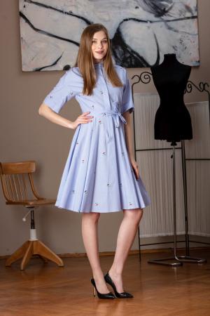Rochie camasa din bumbac imprimat Galaction