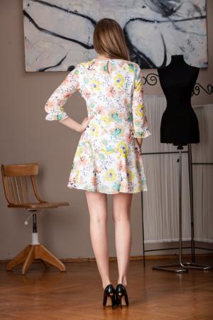 Rochie vaporoasa din voal multicolor Raina