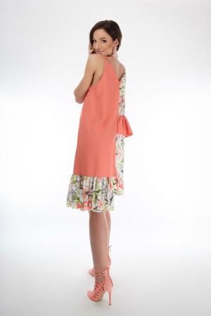 Rochie lejera din voal Coral Magnolia