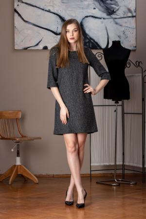 Rochie office dreapta din stofa de lana pipit Linda