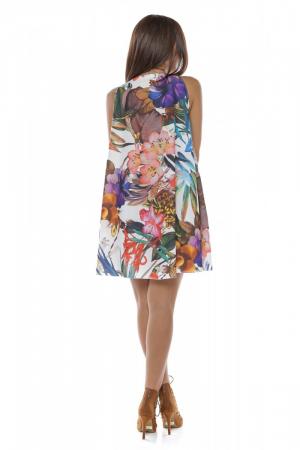 Rochie scurta cu imprimeu floral Exotique