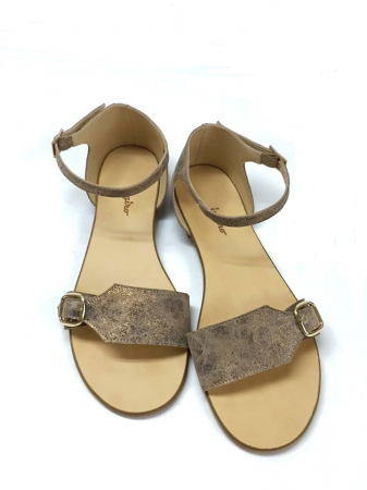 Sandale de dama din piele Ada Bronzo