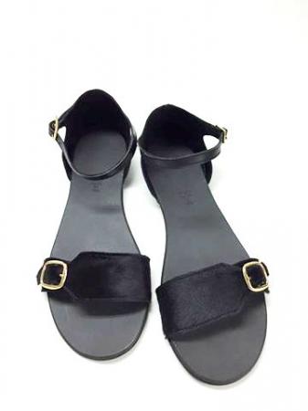 Sandale de dama din piele Ada Pony Black