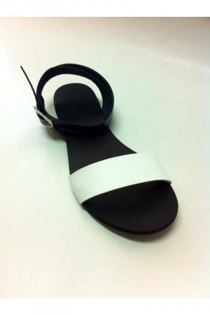 Sandale de dama din piele Black and White