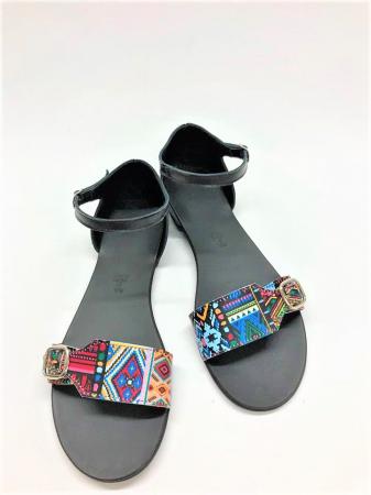 Sandale dama din piele Traditional Pattern Ada
