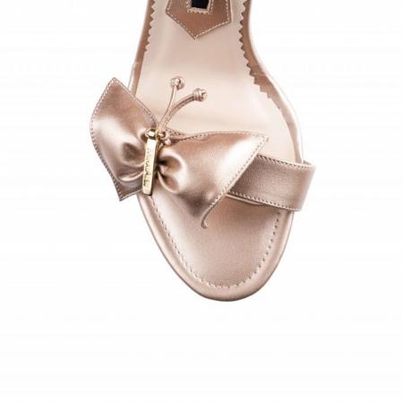 Sandale Mihai Albu din piele Pearl Butterfly