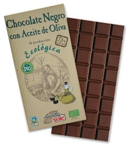 Ciocolata neagra BIO cu ulei extravirgin de masline, Chocolates Sole, 100 g