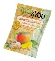 Dropsuri BIO cu ghimbir si mango, 75 g