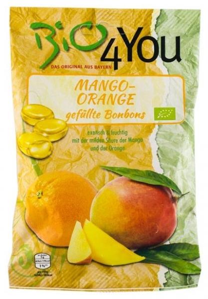 Dropsuri bio cu mango si portocale 75gr