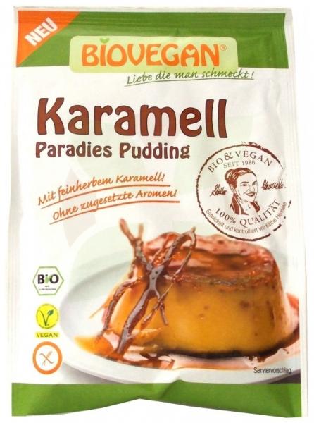Budinca Bio de caramel, 43 g