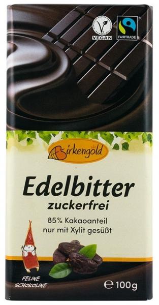 Birkengold - Ciocolata 85% ccao indulcita cu xylitol, 100g