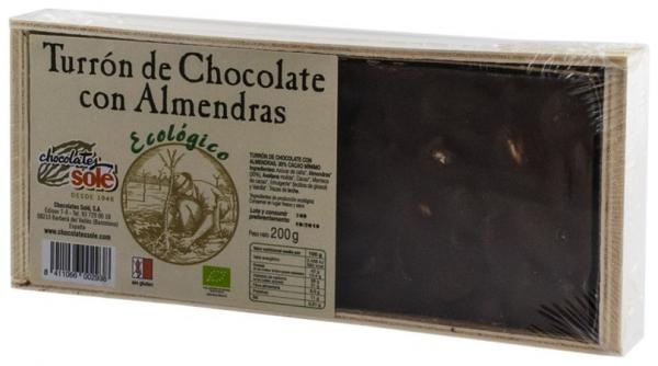 Ciocolata BIO Turron cu migdale, (minim 30% continut de cacao) 200 g
