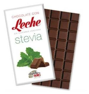 Ciocolata cu Lapte indulcita cu STEVIA (mai putine calorii) 100 gr